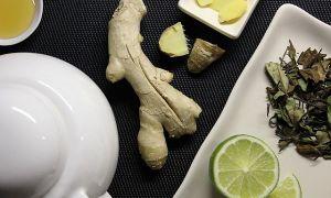 Польза зеленого чая с имбирем и лимоном