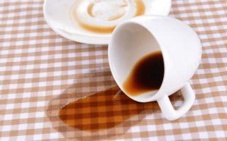 Как вывести пятно от кофе с одежды в домашних условиях?