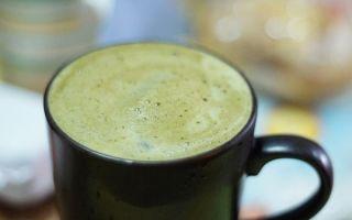 Молочный зеленый чай из Таиланда