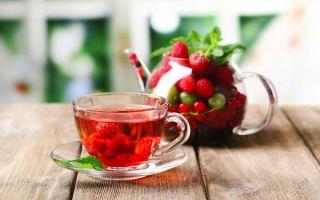 Полезные свойства и рецепты чая с малиной