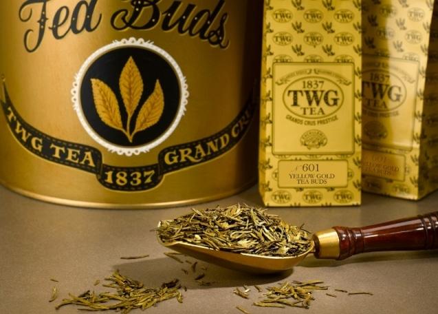 Золотистые чайные головки
