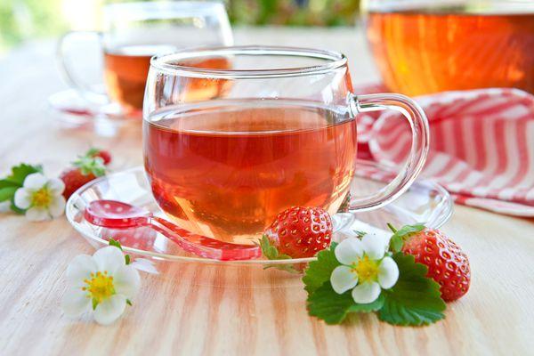 Клубничный фруктовый чай